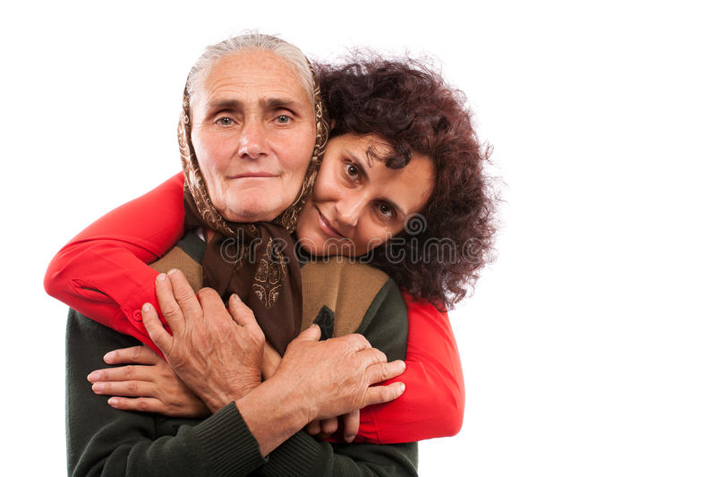 Download Mother and daughter stock image. Image of pensioner, adult - 16146087
