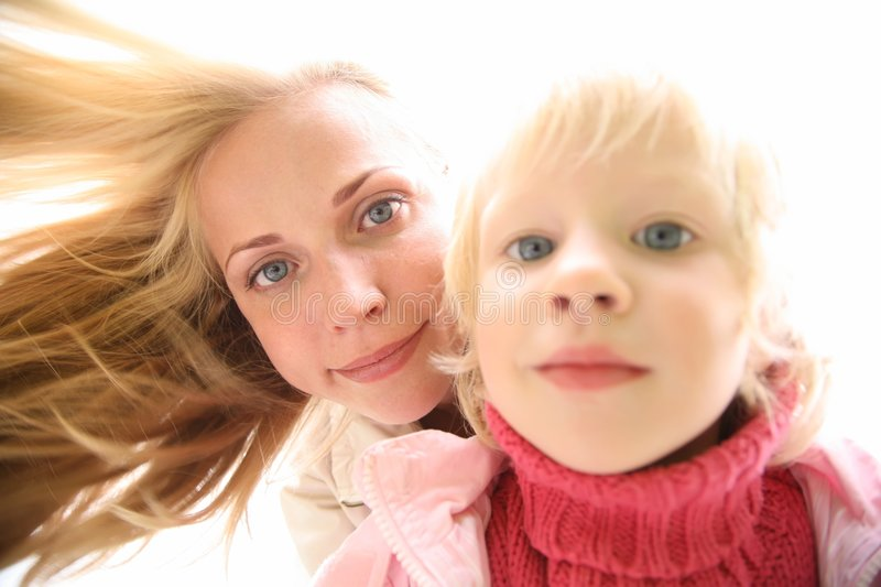 Mother and the daughter 2 stock photo