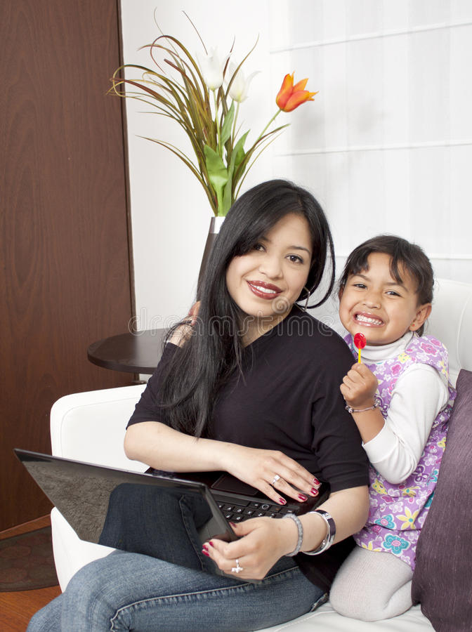 Download A mother and daughter stock photo. Image of mother, learn - 26184900