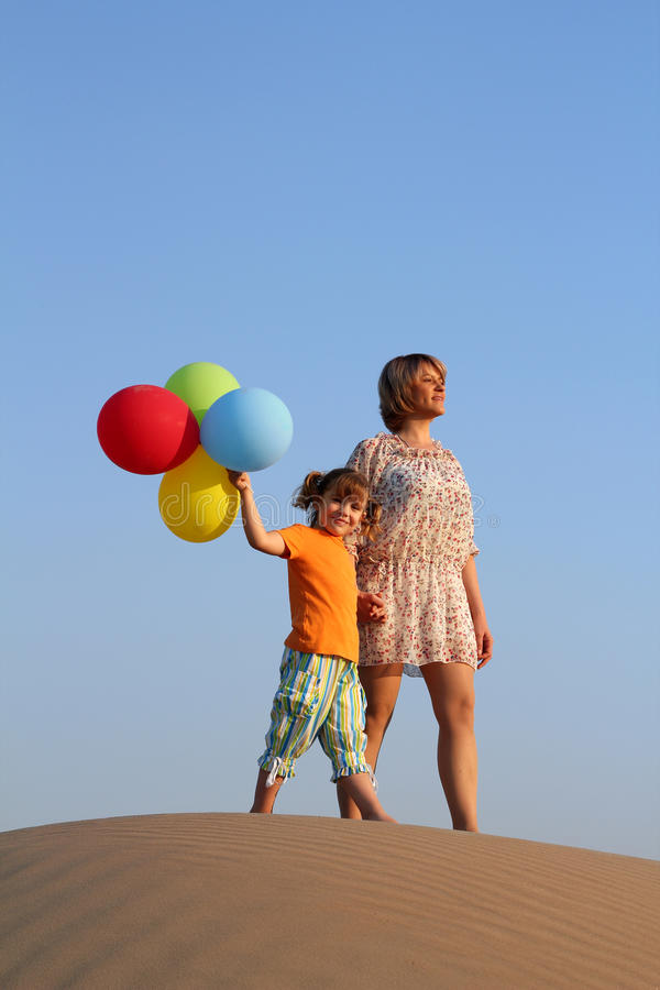 Download Mother and daughter stock photo. Image of feelings, dune - 27196782