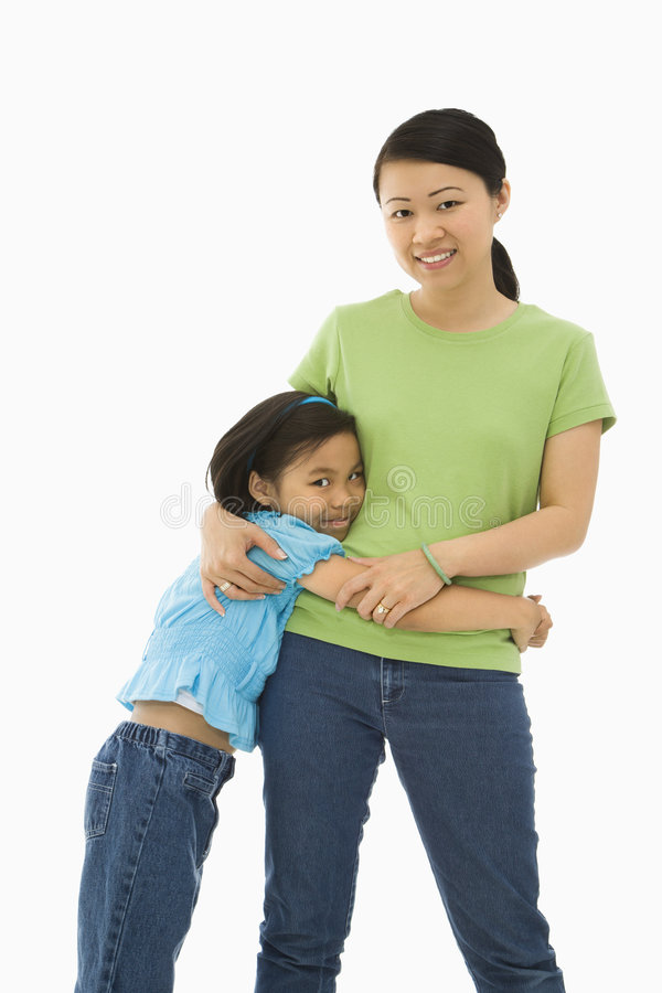 Mother and daughter. stock photography