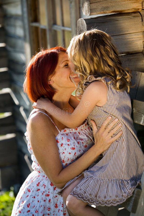 Download Mother and daughter stock photo. Image of girl, countryside - 3011188