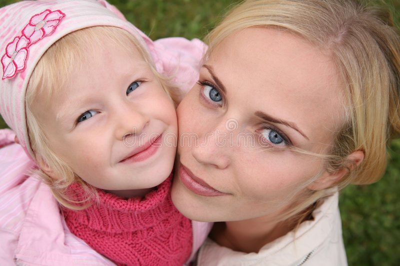 Mother and the daughter royalty free stock images