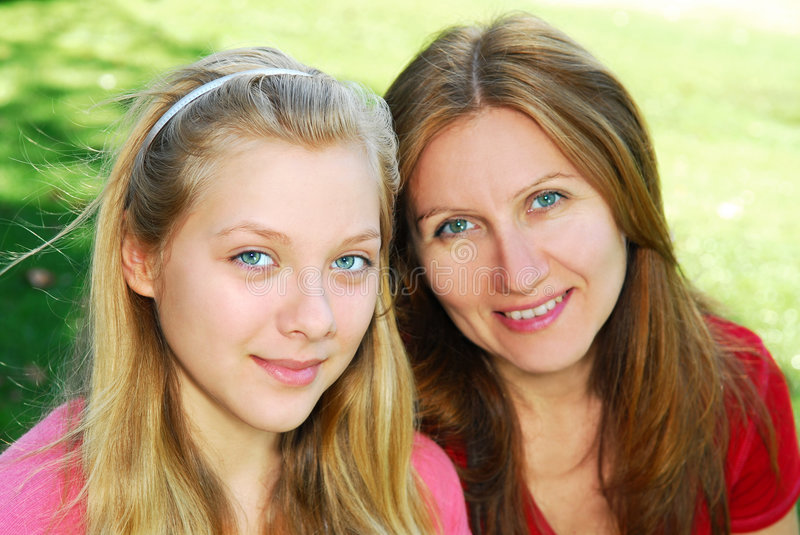 Mother and daughter stock image