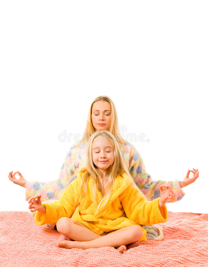 Download Mother and daughter stock image. Image of child, hair - 4606163