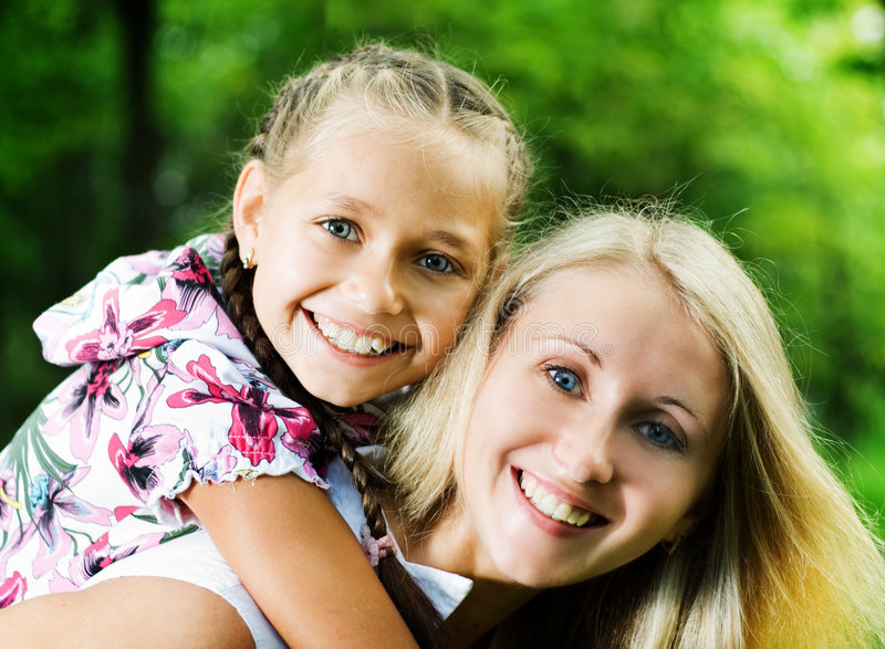 Mother with daughter. stock image