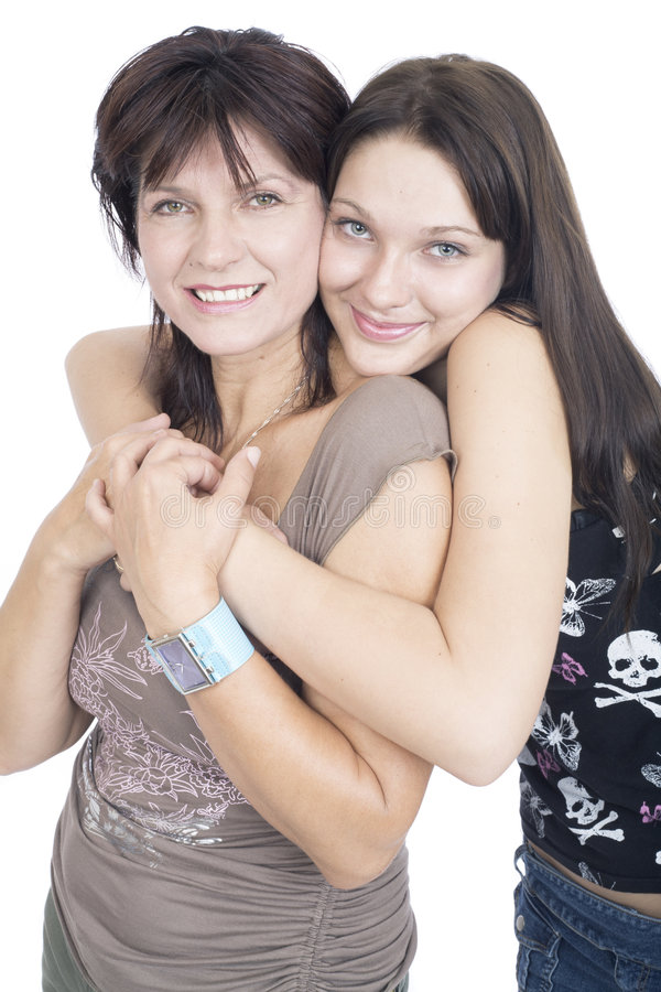 Mother and daughter. Hug