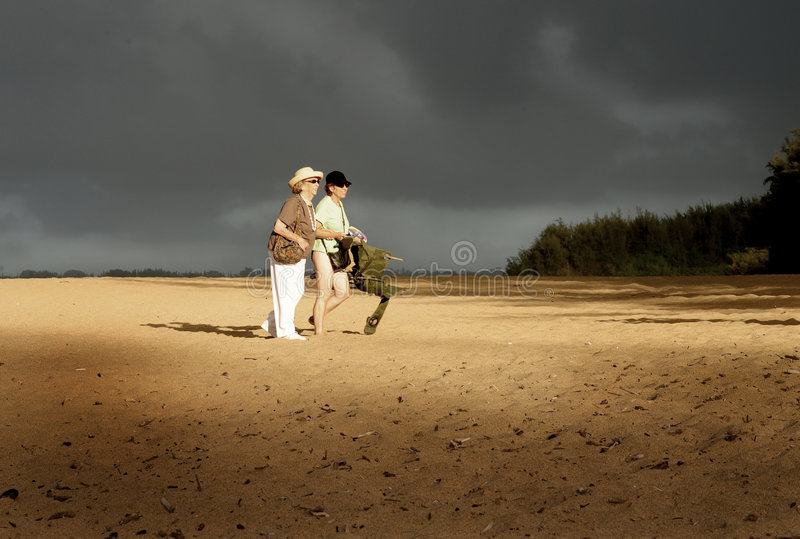 Download Mother and Daughter stock photo. Image of vacation, beach - 7049728