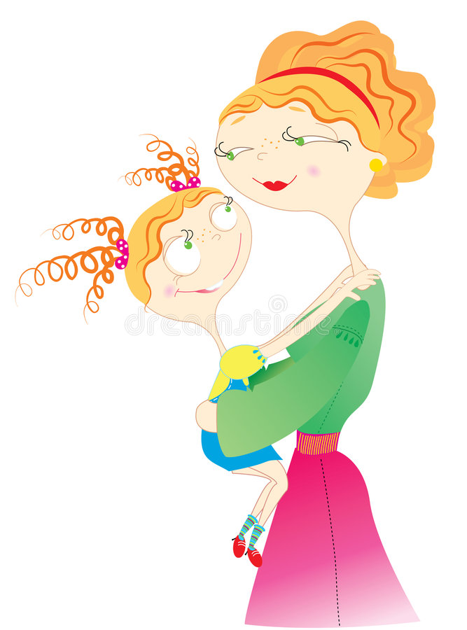 Download Mother and daughter stock vector. Image of parent, beauty - 9196052