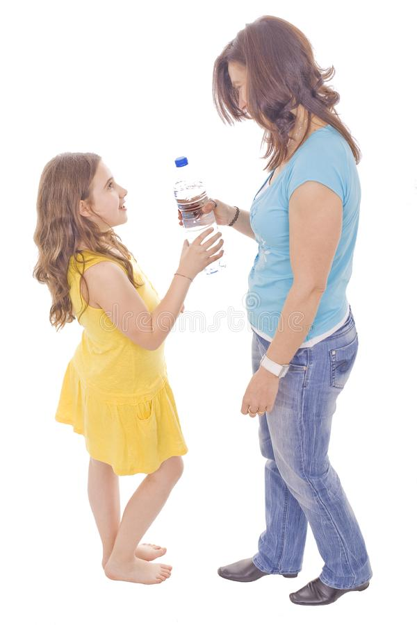 Download Mother and daughter stock image. Image of make, face, drink - 9837605