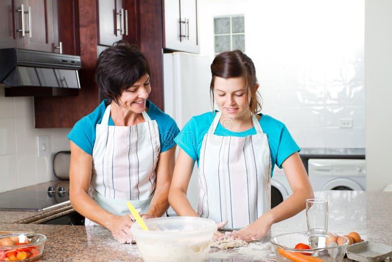 Download Mother daughter baking stock image. Image of bake, indoors - 23477769