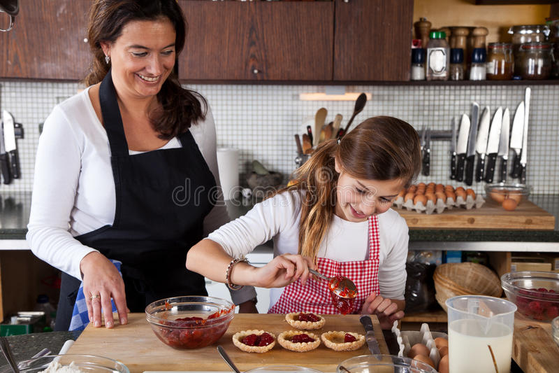 Download Mother And Daughter Baking At Home Stock Image - Image: 22276669