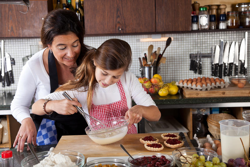 Download Mother And Daughter Baking At Home Royalty Free Stock Images - Image: 22276689
