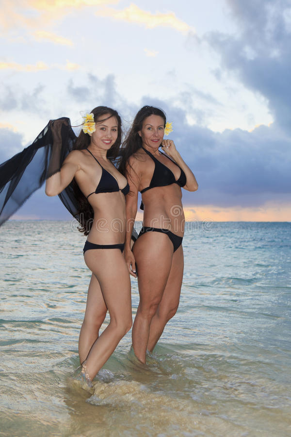 Download Mother And Daughter On The Beach Stock Image - Image: 14481967