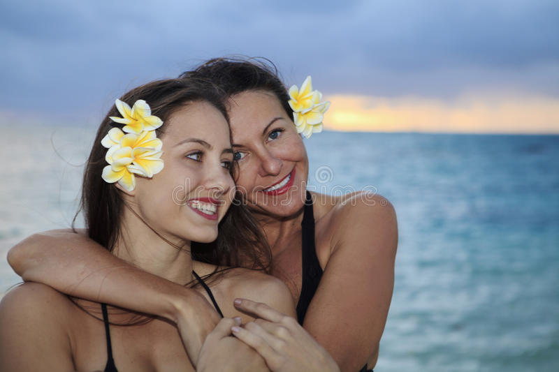 Download Mother And Daughter On The Beach Stock Image - Image: 14481987