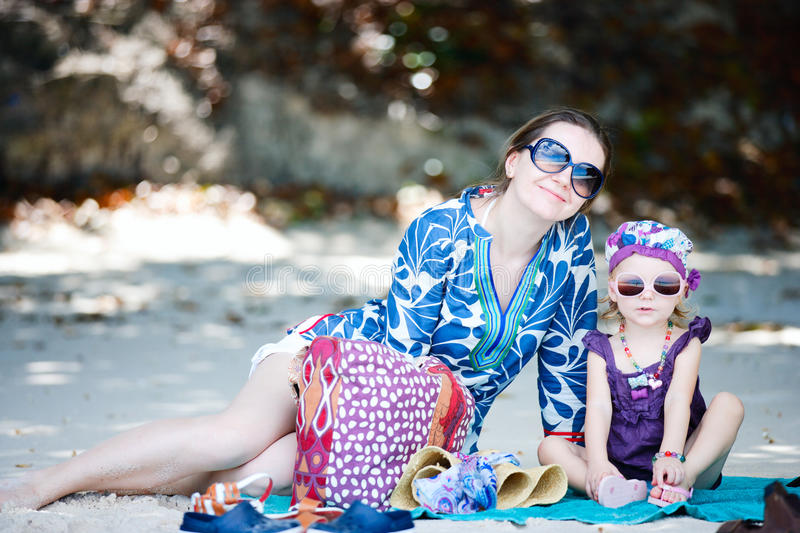 Download Mother And Daughter On Beach Stock Photo - Image: 17865338