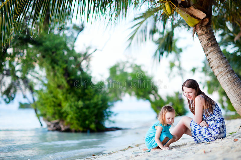 Download Mother And Daughter At Beach Stock Photo - Image: 25218788
