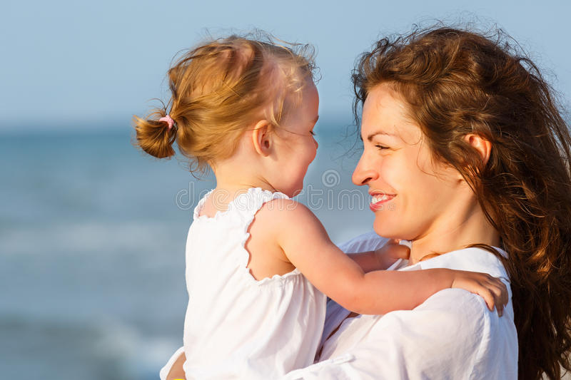 Download Mother And Daughter On The Beach Stock Image - Image: 25622397