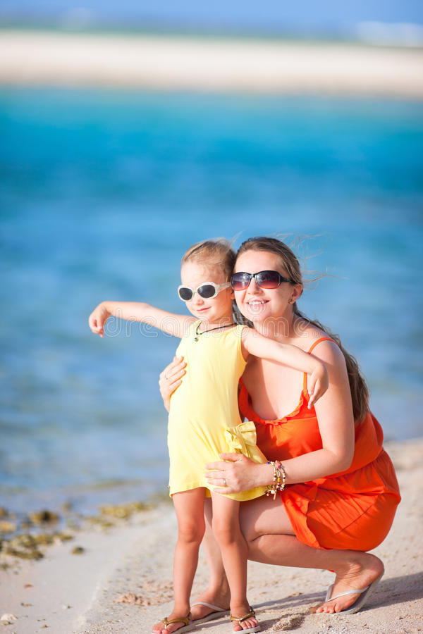 Download Mother And Daughter At Beach Stock Photo - Image: 26535468