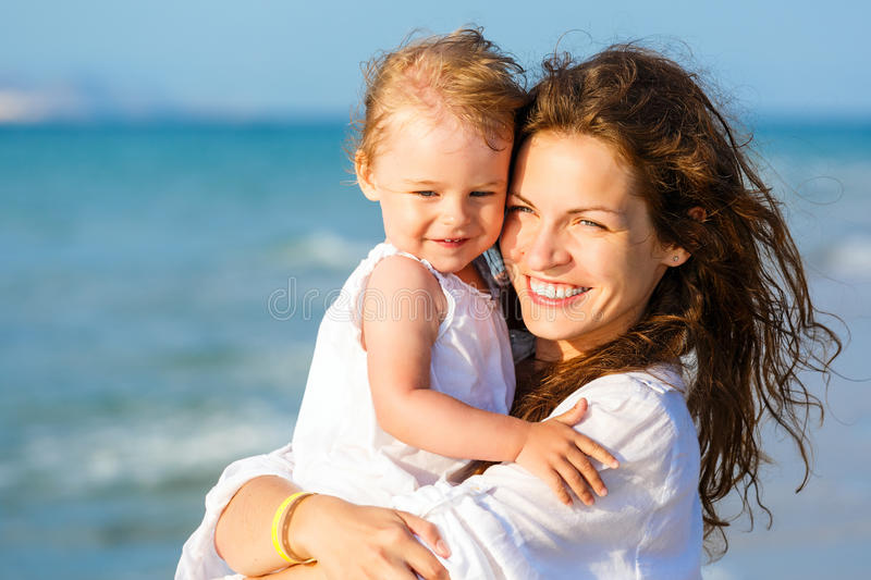 Download Mother And Daughter On The Beach Stock Image - Image: 27920175