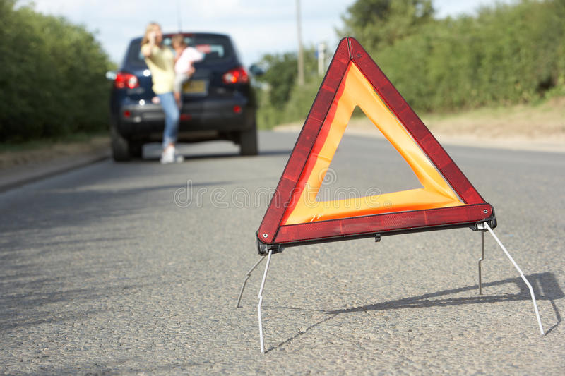 Download Mother And Daughter Broken Down On Country Road Stock Image - Image: 15183969
