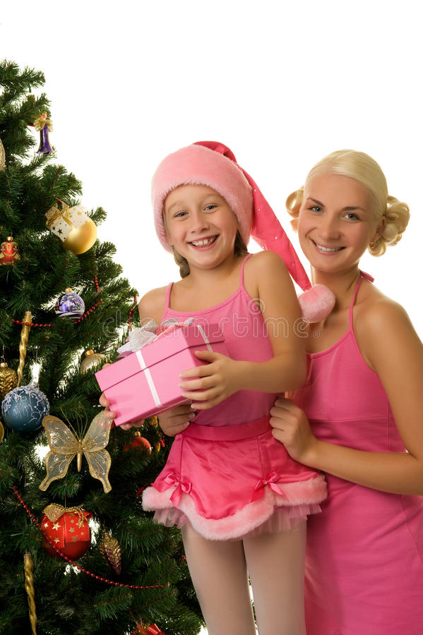 Download Mother And Daughter Celebrating Christmas Stock Image - Image: 11347111