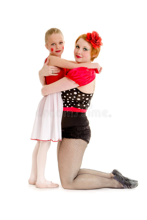 Mother and Daughter Circus Dancer Performers royalty free stock photography