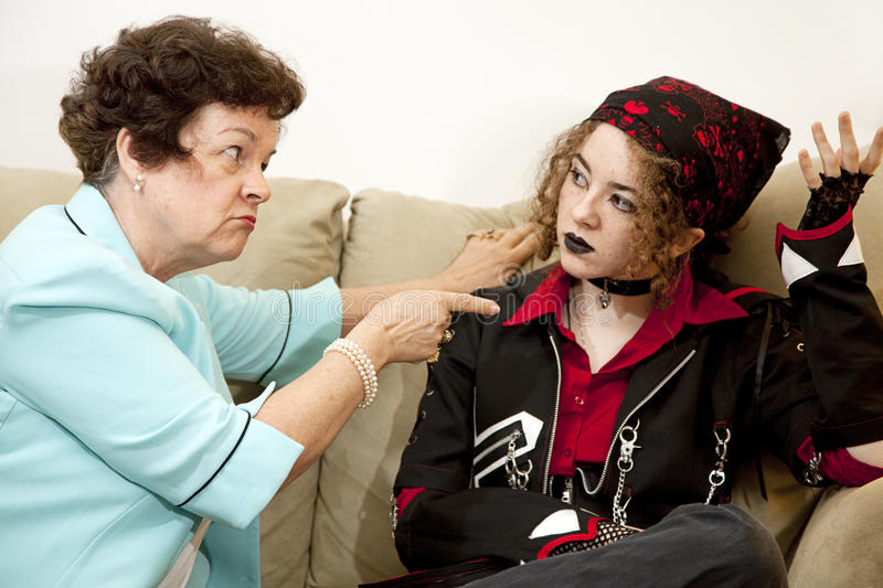 Mother Daughter Conflict stock image