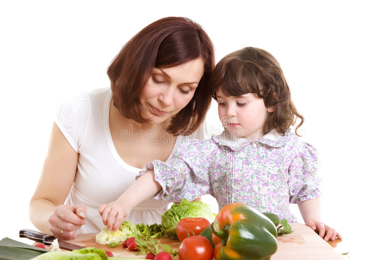 Download Mother And Daughter Cooking At The Kitchen Stock Photo - Image: 5037630