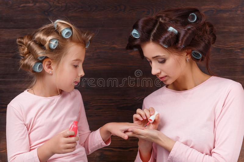 Mother and daughter having fun together royalty free stock photos
