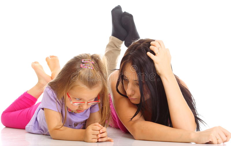 Download Mother And Daughter Having Relationship Difficulties Isolated Stock Photo - Image: 35136640