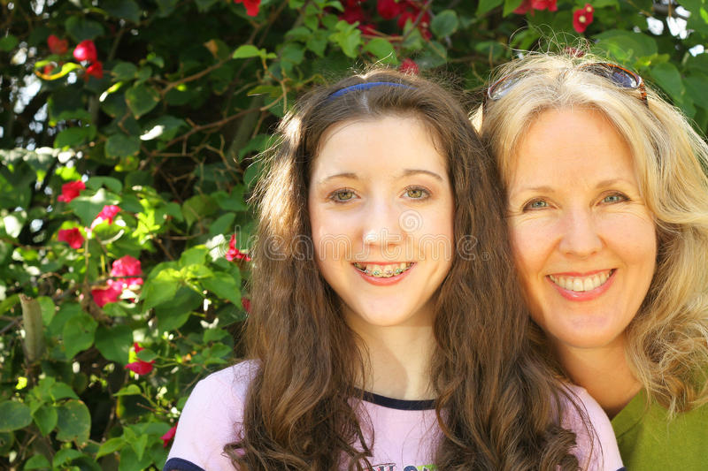 Download Mother daughter headshot stock image. Image of braces - 14252893