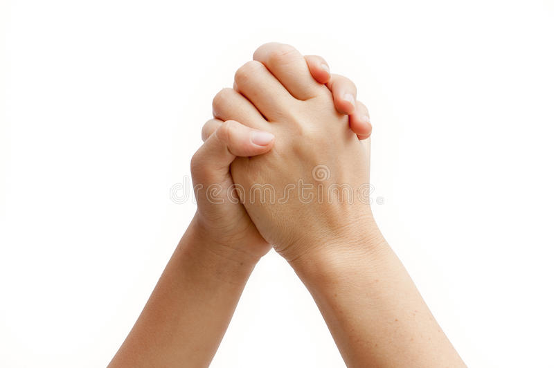 Mother And Daughter Is Holding Hands Royalty Free Stock Photos