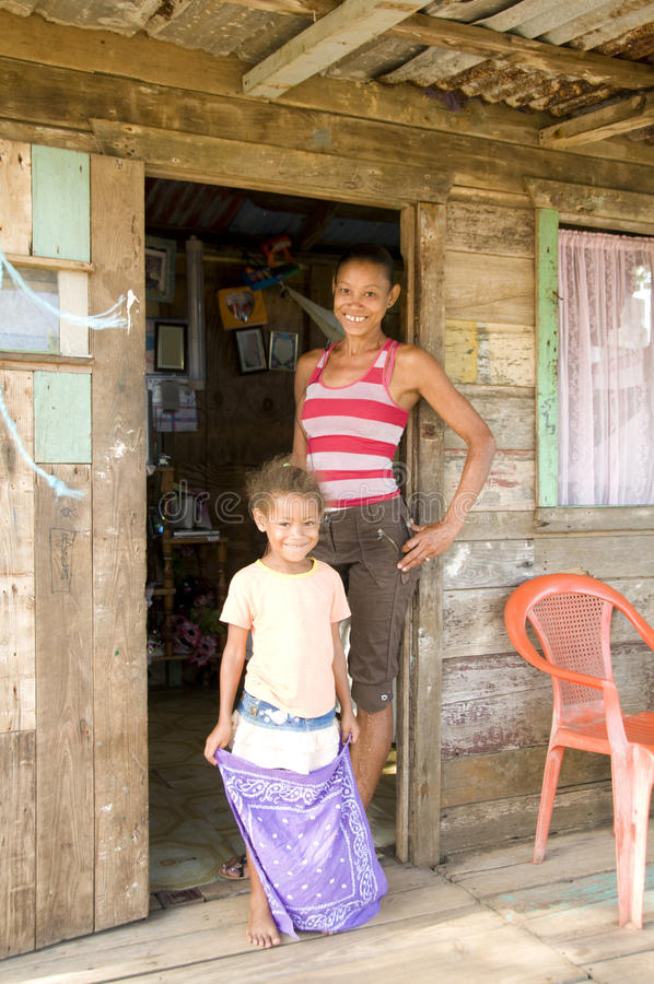 Mother daughter house Corn Island Nicaragua royalty free stock image