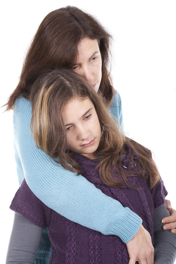 Mother And Daughter Hugging Royalty Free Stock Photo