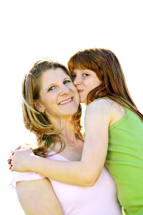 Mother and daughter hugging royalty free stock images
