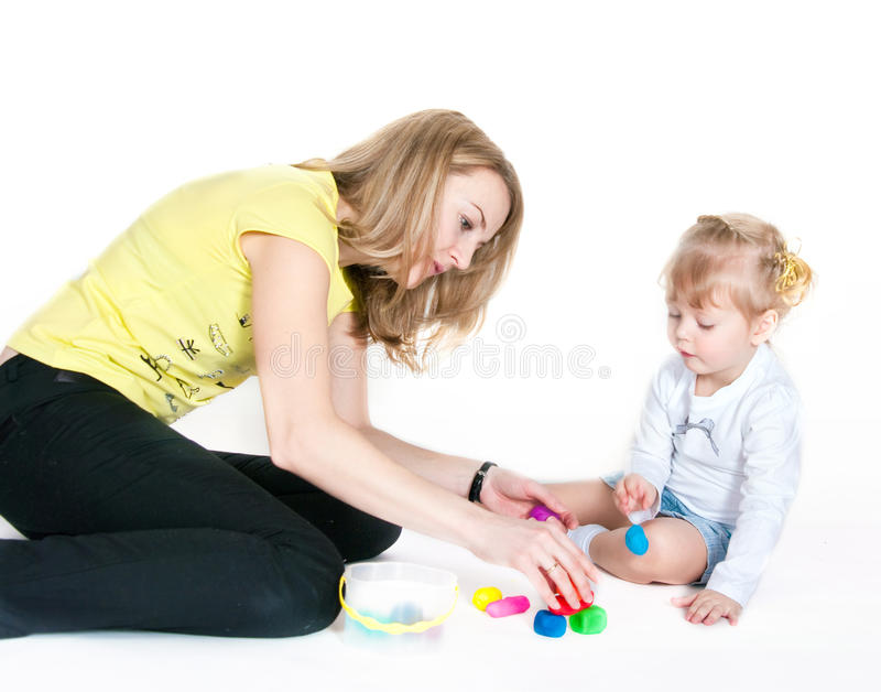 Download Mother And The Daughter Mold Plasticine Stock Photo - Image: 19803320