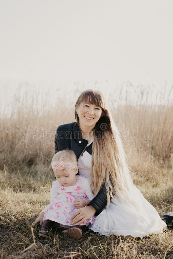 Mother and daughter outdoor - Image royalty free stock photography