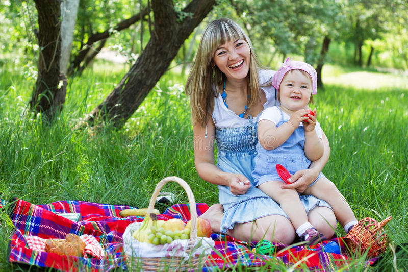 Download Mother With Daughter Outdoors Stock Image - Image: 19804033