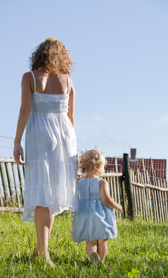 Mother with daughter in the park royalty free stock images