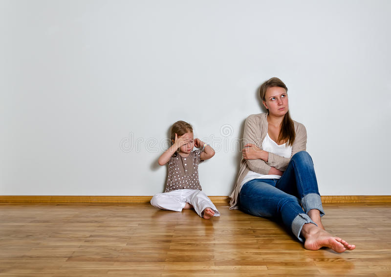 Mother and daughter are in quarrel royalty free stock photos