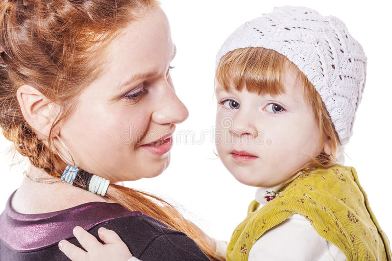 Mother and daughter Secrets stock photo