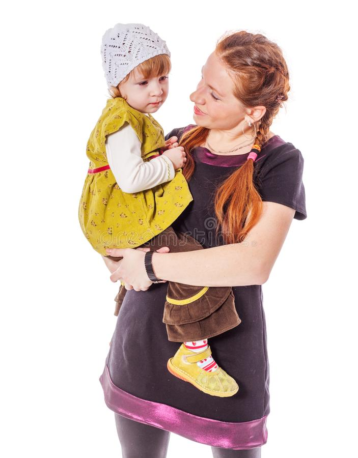 Mother and daughter Secrets stock photography
