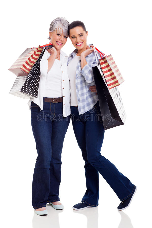 Download Mother daughter shopping stock image. Image of daughter - 33857611