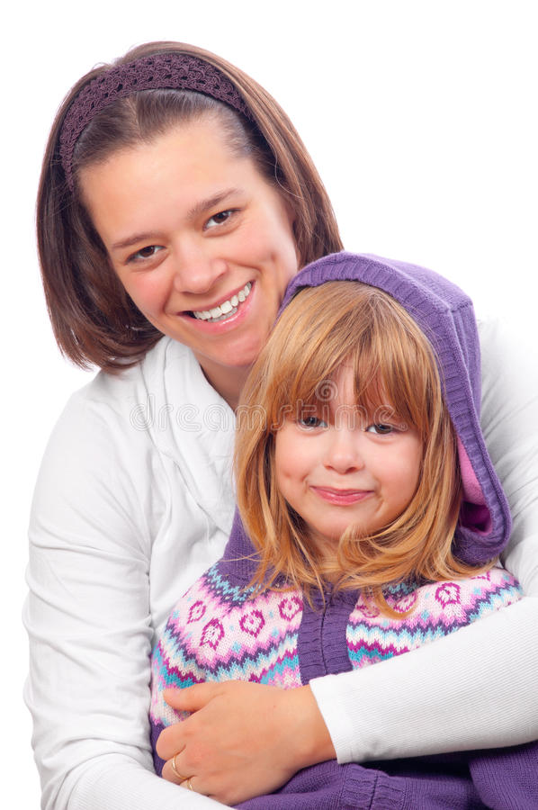 Mother and daughter smiling royalty free stock image