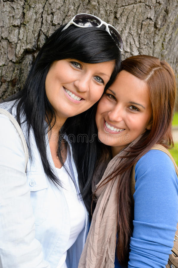 Mother and daughter spending time together park royalty free stock photo