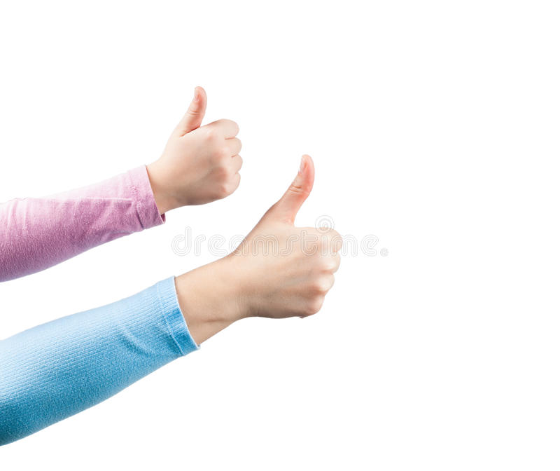 Download Mother And Daughter Thumbs Up. Stock Photo - Image of showing, positivity: 24649894