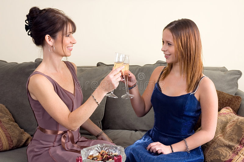 Download Mother Daughter Toast Royalty Free Stock Images - Image: 1414179