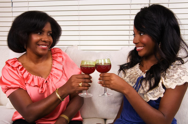 Mother and Daughter Toast royalty free stock photos