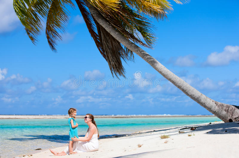 Download Mother And Daughter On Tropical Beach Stock Photography - Image: 26814822